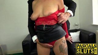 British MILF Kelly Cummings dominated and fed cum