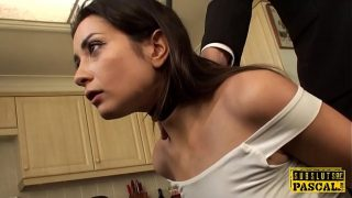 British squirter babe cum during anal fuck