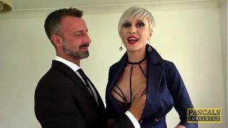Busty Tanya Virago fed cum after hardcore anal drilling