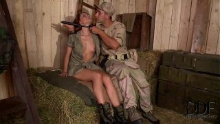 Horny Soldiers Bang Sexy Corporal Sophie Lynxs Pussy and tight  Ass